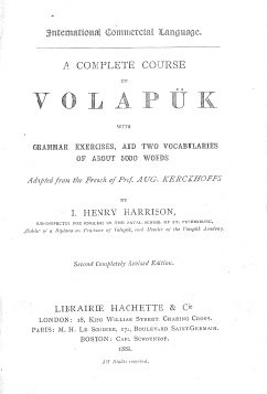 a complete course of volapuk