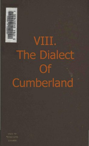 a glossary of words and phrases pertaining to the dialect of cumberland east and west cornwall antrim and down