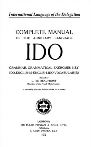 complete manual of the auxiliary language ido