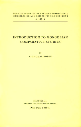introduction to mongolian comparative studies