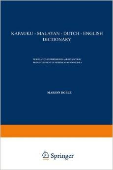 kapauku malayan dutch english dictionary
