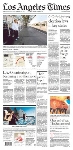 los angeles times 31 - 10 - 2011