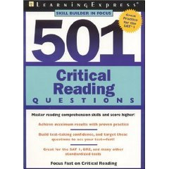 501 critical reading questions skill builders in focus for sat practice