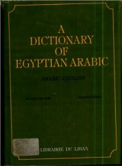 a dictionary of egyptian arabic arabic-english