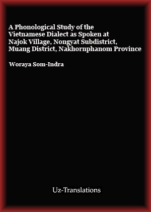 a phonological study of the vietnamese dialect as spoken at najok village
