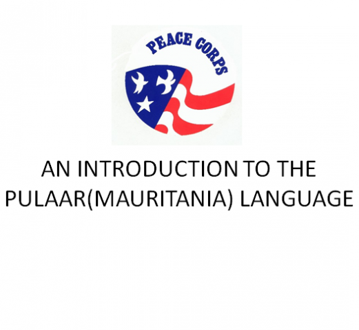 an introduction to the pulaar mauritania language