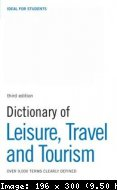dictionary of leisure travel and tourism elt 3rd edition