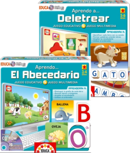 educa multimedia aprendo a deletrear jugamos al abc dario 2cd rom