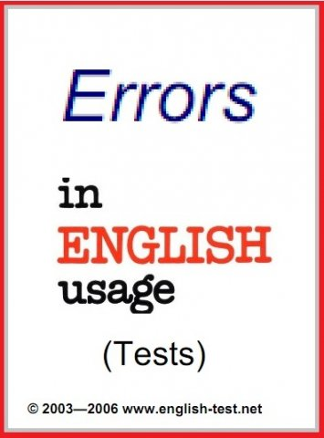 errors in english usage tests witth answer key