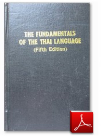 fundamentals of the thai language fifth edition