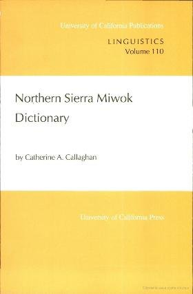 northern sierra miwok dictionary