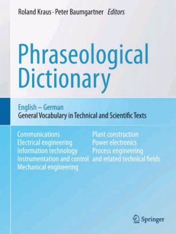 phraseological dictionary english - german general vocabulary in technical and scientific texts