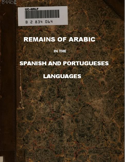 remains of arabic in the spanish and portuguese languages
