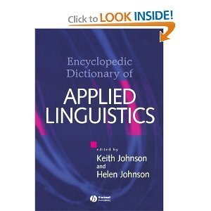 the encyclopedic dictionary of applied linguistics a handbook for language teaching