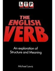 the english verb an exploration of structure and meaning