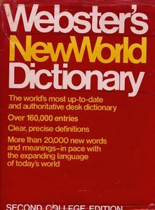 websters new world dictionary 2nd college edition